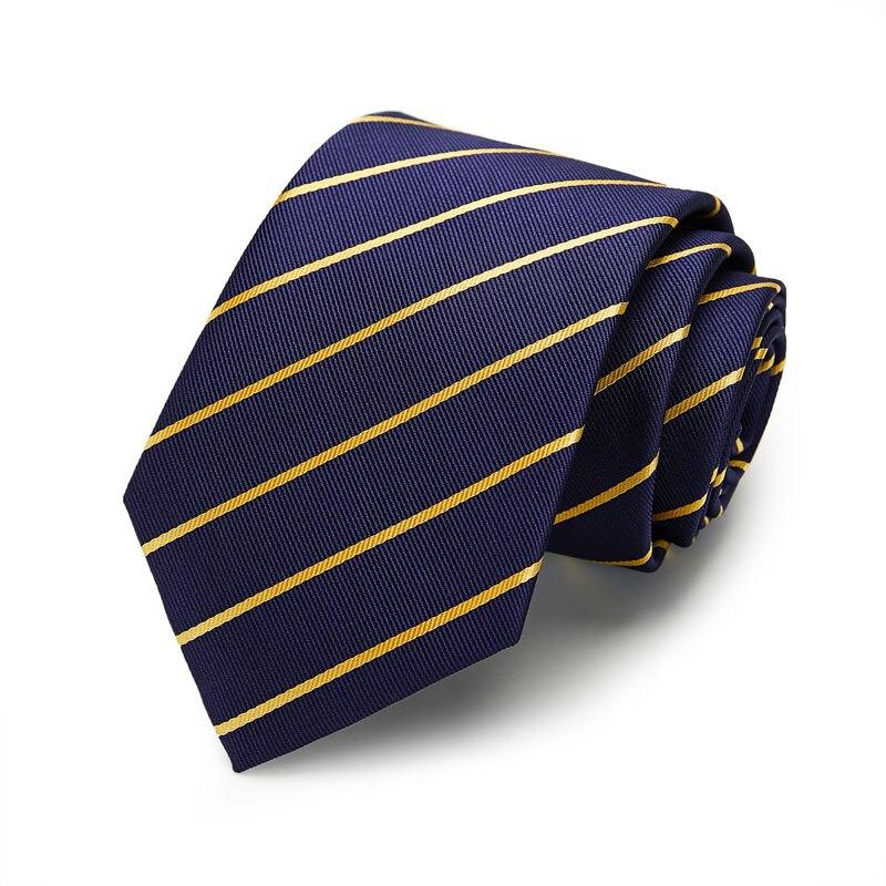 Men gift New Gold Striped Tie Set Jacquard Woven gravata 100 Silk 8cm Tie Hanky Cufflinks Necktie Sets For Wedding Party Men in Men 39 s Ties amp Handkerchiefs from Apparel Accessories