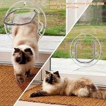 Окошко для домашних животных круглая откидная дверь с 4 дверцами