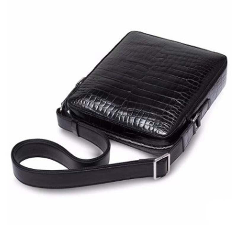 Ourui nuovo vero coccodrillo pacchetto uomini del cuoio Genuino Singolo sacchetto di spalla nero sacchetto Degli Uomini di nuovo arrivo - 5