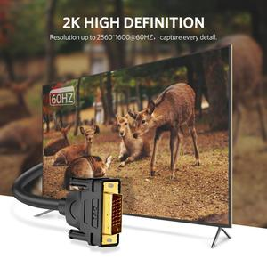 Image 5 - Câble Ugreen DVI DVI D câble vidéo mâle à mâle 2K DVI D 24 + 1 adaptateur double liaison 1m 2m 5m 10m 15m pour projecteur HDTV Cabo DVI D