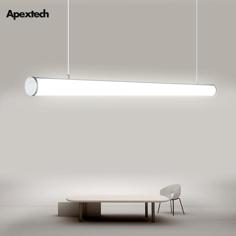 Led Linear Bar Tube Light Office Lighting Pendant Lamp Dining Ceiling Hanging Lights Straight Droplight 4ft 120cm 36w Ac100 240v Led Bulbs Tubes Aliexpress