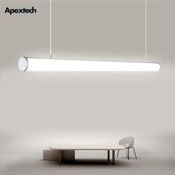 LED liniowy Bar świetlówka biuro lampa wisząca jadalnia sufit światła wiszące prosto droplight 4ft 120cm 36W AC100 240V w Wiszące lampki od Lampy i oświetlenie na