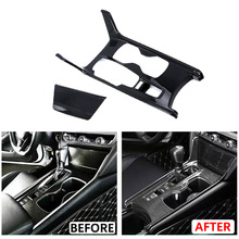 JEAZEA Carbon Fiber ABS Inner Gear Shift Box Panel Holder Cover Frame Trim Fit For Honda Accord 2018 2019 Car Accessories цены