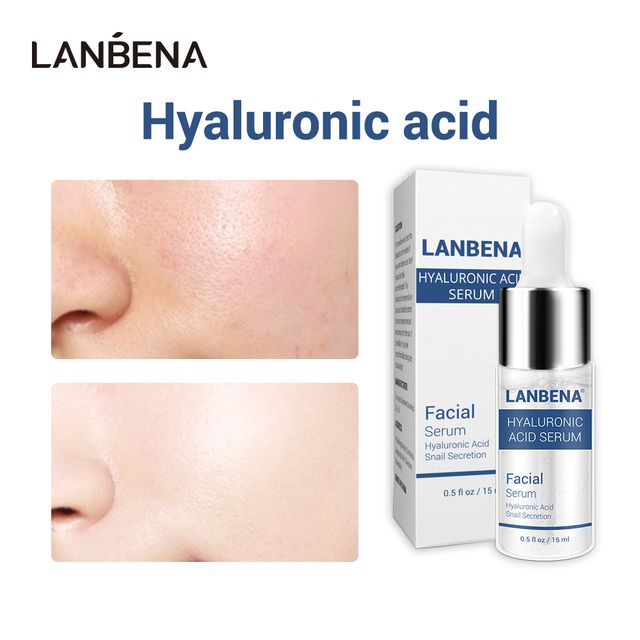 LANBENA Hyaluronic Acid Serum Metabolism Small Molecule Quick Hydration Face Primer Eye Face Cream Elastic Natural Plant Extract