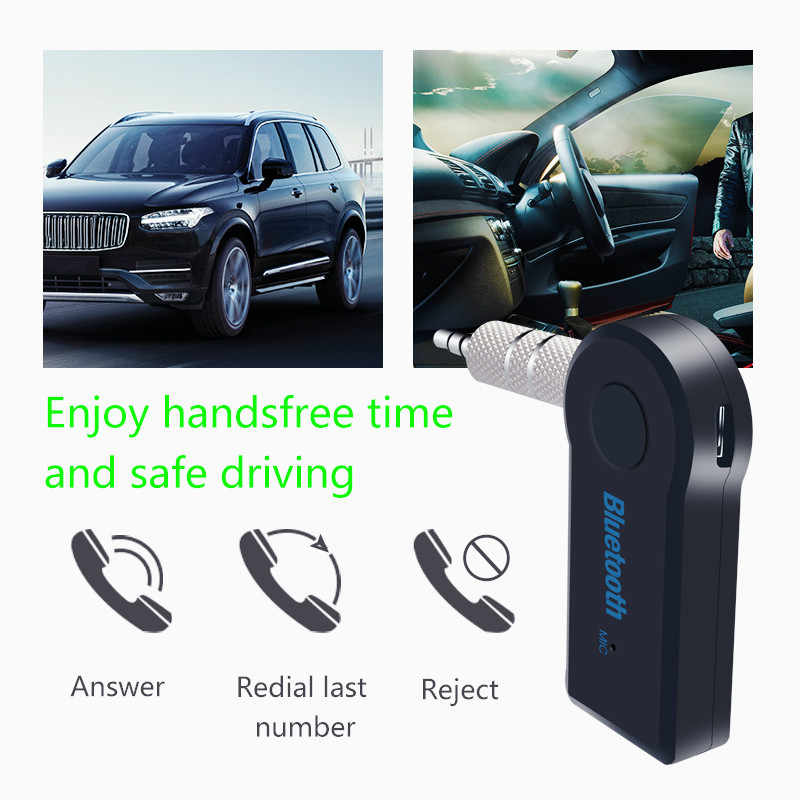Bluetooth Audio Receiver V4.1 Wireless AUX  Bluetooth Transmitter A2DP Function Auto Jack Adapter for Speaker Car Headphone