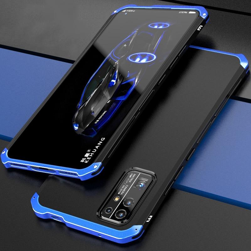 Роскошный противоударный чехол для Honor V40 X10, тонкий жесткий алюминиевый металлический и Гибридный чехол из поликарбоната для Huawei Honor V30 V20 30S ...