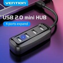 Vention USB HUB USB 2,0 Hub de 4 puertos USB Splitter con LED USB adaptador para Macbook Pro de la computadora de la PC accesorios Hub USB Multi Hab