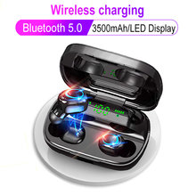 S11 Cordless Bluetooth 5.0 Headphone Tws Nirkabel Gaming Earphone Pengisian Case LED Display 9D Stereo Headset Wireless Charger(China)
