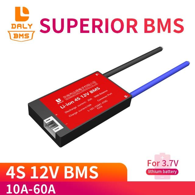 4S 12V 10A 20A 30A 40A 60A Liion Pin Lithium 18650 Sạc PCB BMS Ban Bảo Vệ với Cân Bằng cho 14.8V 16.8V Pin Lipo Tế Bào