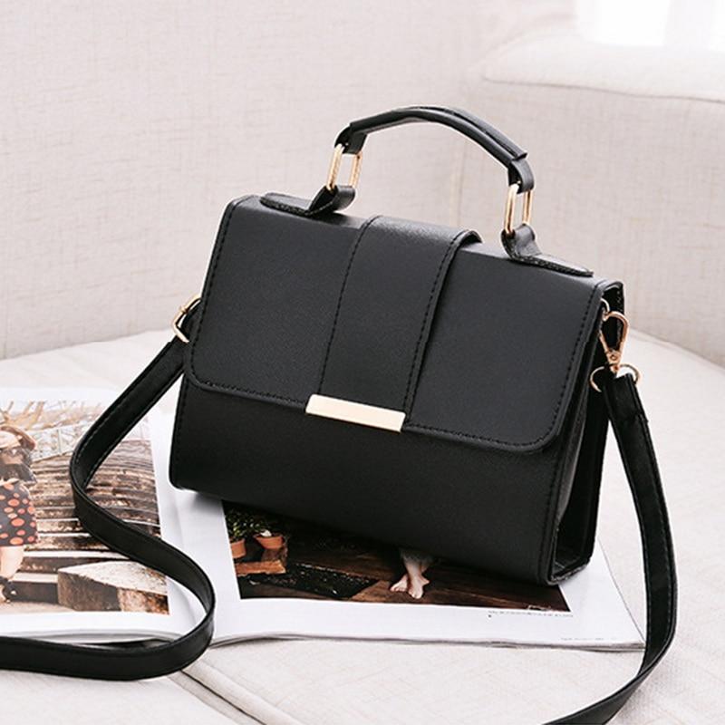 Dihope Women Fashion PU Leather Shoulder Small Flap Crossbody Handbags Top Handle Tote  Messenger Bags