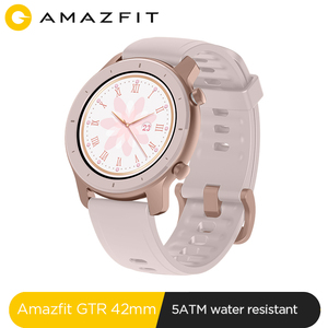 Image 1 - Global Version New Amazfit GTR 42mm Smart Watch 5ATM waterproof Smartwatch 12 Days Battery Music Control For Android IOS