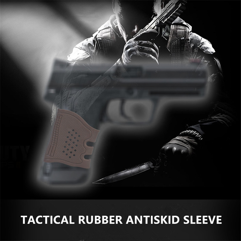 Tactical Rubber Pistol Grip Glove Gun Glock Holster Handgun Sleeve Cover Protect Anti-Slip Airsoft Hunting Accessories