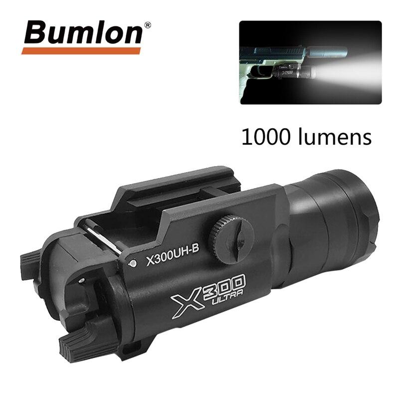 ピストル武器懐中電灯戦術的な光 X300UH-B X300U X300 グロック白 LED 狩猟懐中電灯 20 ミリメートルピカティニーレール