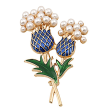 New pineapple tree sunflower brooch drop glaze inlaid pearl wild women's clothing products creative clothing accessories