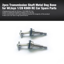 HOT 2pcs Transmission RC Drive Shaft Metal Dog Bone for WLtoys 1/28 K989 RC Car Off-road Model Spare Parts Accessories Component wltoys wl toys v959 v969 v979 v989 2 4g 4 ch rc quadcopter spare parts v959 19 guided missile launcher component shipping