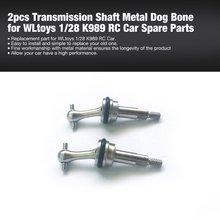 HOT 2pcs Transmission RC Drive Shaft Metal Dog Bone for WLtoys 1/28 K989 Car Off-road Model Spare Parts Accessories Component