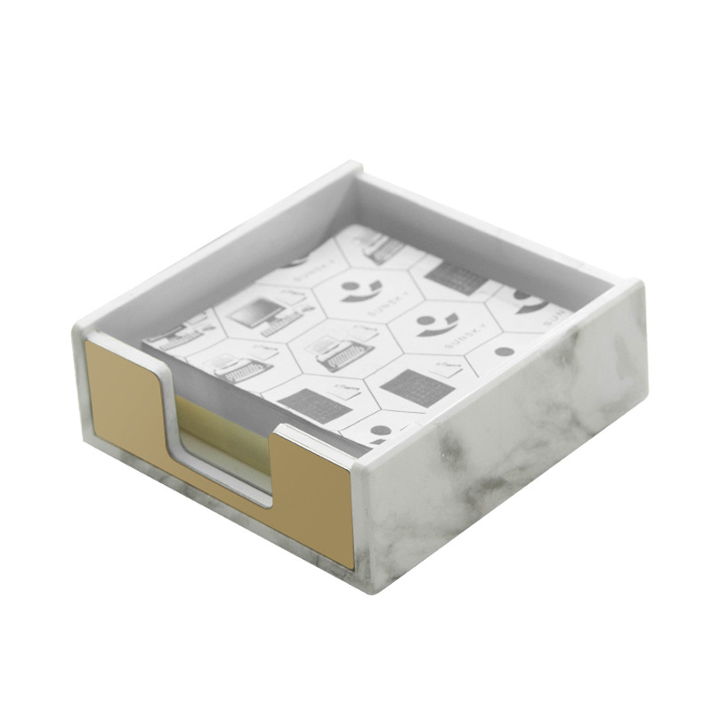 1pcs Ins Marble Texture Stationery Creative Desktop Sticky Notes Box Memo Pads Holder Business Card Box Storage Box