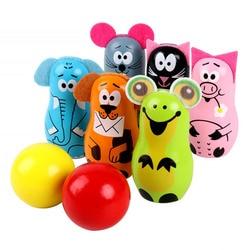 1 conjunto de brinquedo educacional adorável prático criativo boliche bola brinquedo de madeira conjunto boliche conjunto para crianças meninos crianças