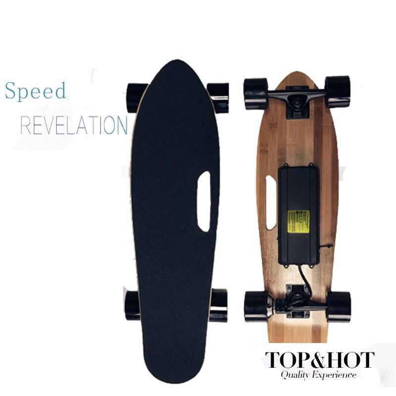 Planche à roulettes électrique 27 pouces 4 roues Longboard planche à roulettes 150W 24V moteur avec télécommande pour adultes chcover Dropshippng