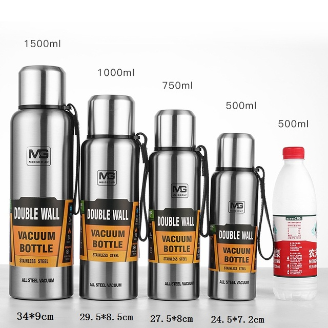 500/750/1000/1500ml Russian Outdoor Thermos Bottle Portable Large Capacity Insulated Cup Military Style Vacuum Flask 6