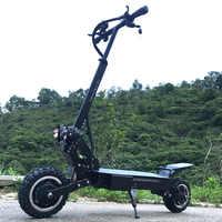 FLJ T112 5600W Dual Motor Leistungsstarke Elektrische Roller mit off road reifen rad 2 große LED roller lichter e bike neue kick roller