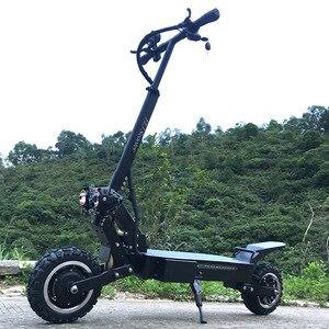 Flj t112 5600 w duplo motor scooter elétrico poderoso com fora da estrada pneu roda 2 grandes luzes led scooter e bicicleta novo pontapé scooter