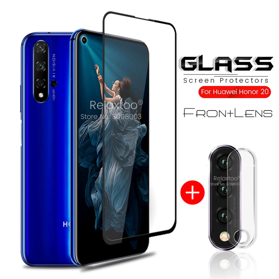2in1 Armor Protection Glass On Honor 20 Glass Protective For Huawei Honor 20pro 20 Pro Lite Light 20i 20lite Safety Camera Films