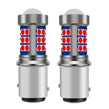 2 pièces 1157 P21/5W BAY15D Super lumineux 3030 LED, ampoule de frein de voiture, clignotant, lumière de jour, lampe de stationnement, rouge blanc ambre