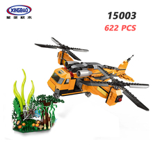 XINGBAO NEW 15003 Forest Adventure Series 622PCS Fall Into The Jungle Building Blocks Classic Airplane Model Bricks Boys Toys