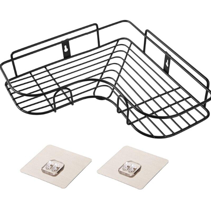 Caddy Shelf Organizer Triangular Wall Corner Rack Bathroom Kitchen Shower Punch Free Holder DC120