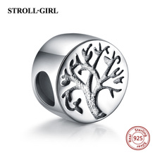Strollgirl Spring Collection 925 Sterling silver Beads Tree of life Charms Fit Pandora Bracelet Women Sterling Silver Jewelry fc jewelry fit original pandora charms bracelet 925 sterling silver family heart tree of life mom lockets beads necklace pendant