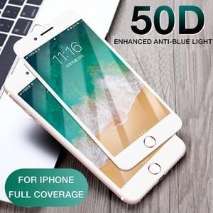 Image 2 - 50D Volle Abdeckung Gehärtetem Glas Für iphone 8 7 Plus 6 6s Glas display schutz Auf Die iphone X XS MAX XR 5 5S SE Schutz Glas