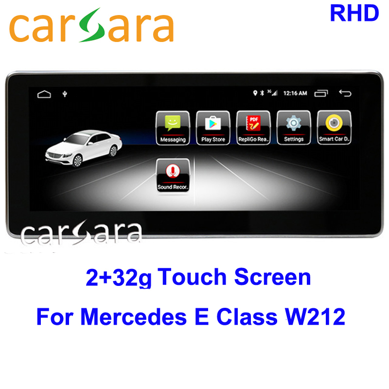 Mercedes Android 2G RAM NTG <font><b>5</b></font> Display for Ben z E Class W212 2010 11 <font><b>12</b></font> 13 14 15 Auto Dashboard Multimdia High-end Navigation image