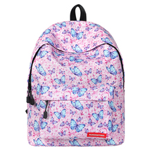 цены на Cute Backpack Bag Colorful Backpack Butterfly Printing School Bags For Teenage Girl 2019 School Shoulder Bag Waterproof Bookbag в интернет-магазинах