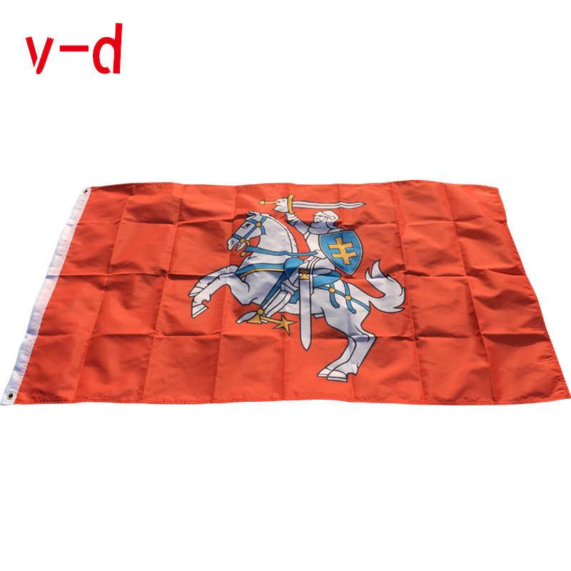 Envío Gratis bandera xvggdg de bandera de Lituania (Estado) bandera de poliéster Ensign dos tamaños pueden elegir