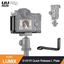 UURig R026 kamera L plaka Panasonic Lumix S1/S1R dikey yatay Video çekimi Tripod braketi tutuşunu kavrama kolu