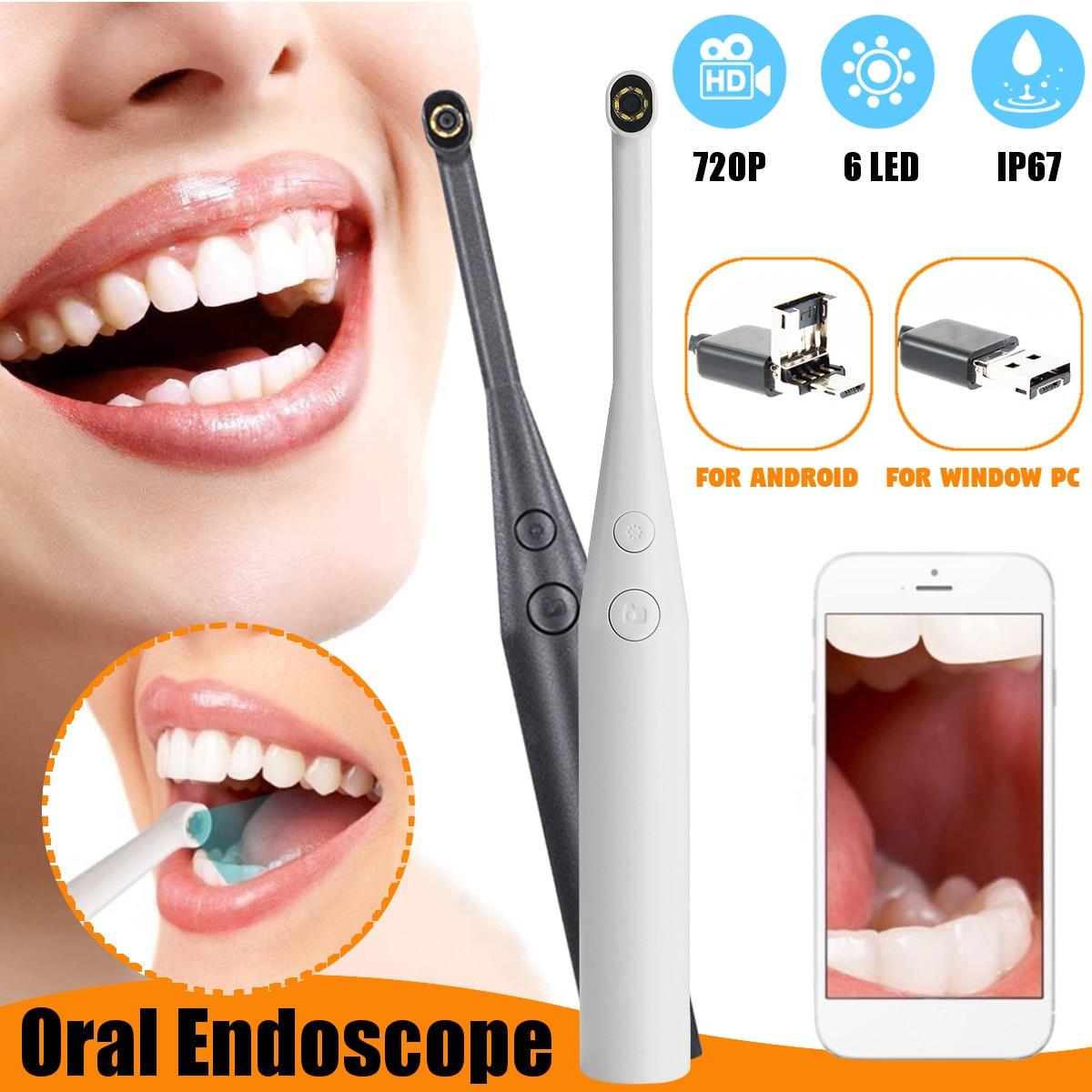 WIFI Wireless USB Dental HD Intraoral Camera Endoscope LED Light Waterproof Oral Dental Endoscope  Mirror Whitening