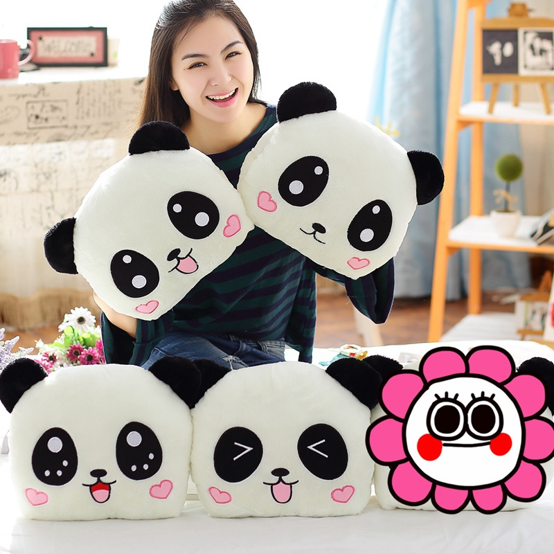 New ins Recommended cartoon Panda handcuffs Plush hand warmers Intercepting the pillow Handcuffs gift 1