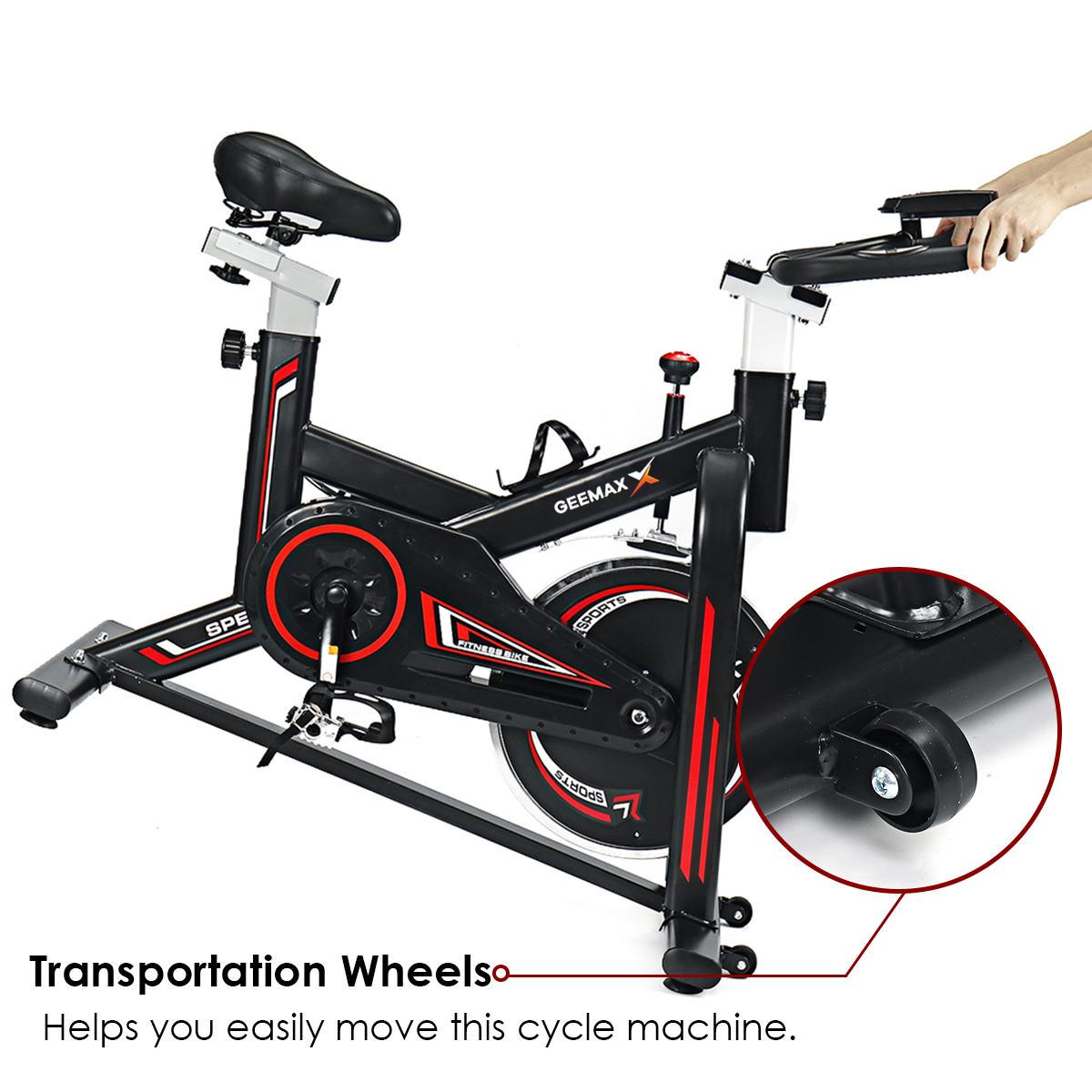 Permalink to GEEMAX Exercise Bike Home Ultra-quiet Indoor Cycling Bike Stationary Bike Weight Loss Fitness Bike LCD Monitor Exercise Bicycle