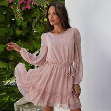 Женское мини платье с цветочным принтом повседневное элегантное