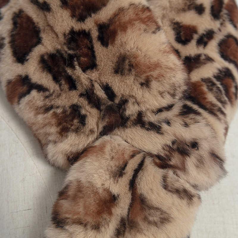 フル肌リアルレックスウサギの毛皮のスカーフ女性の冬の韓国ファッションの毛皮のスカーフ両面肥厚と温暖化