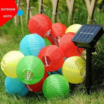 цена на Solar Light LED Lantern String Lights Ball 20/30 LED Solar Garland Outdoor Fairy Lights Christmas Lighting for Garden Decoration