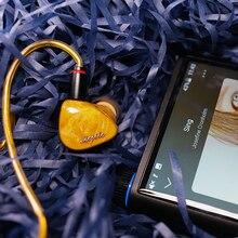 QOA מוחיטו 2 Sonion BA + 4 נואלס 6BA נהג יחידות באוזן אוזניות HIFI DJ צג IEM 2Pin כסף  מצופה נחושת כבל אוזניות