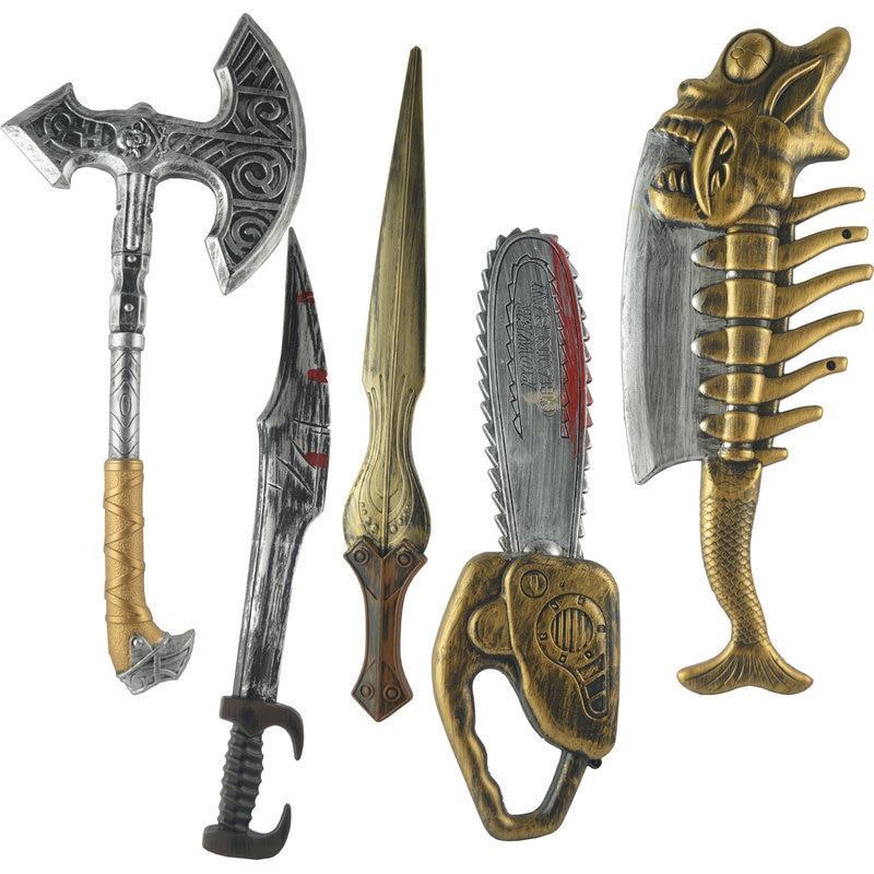 Children Plastic Sword Toys Boy Swordsman Shield Arms Student Security Simulation Sword Model Weapon