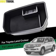 Armrest Storage Box For Toyota Land Cruiser Fj200 Lc200 Lexus Lx570 2008-2018 2010 2012 2014 2016 2017 Phone Holder Tray Pallet