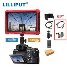 LILLIPUT A7S 7 Cal 1920x1200 HD ekran IPS 500cd/m2 kamera Monitor zewnętrzny 4K wejście HDMI wyjście wideo pomoc dla lustrzanek cyfrowych DSLR