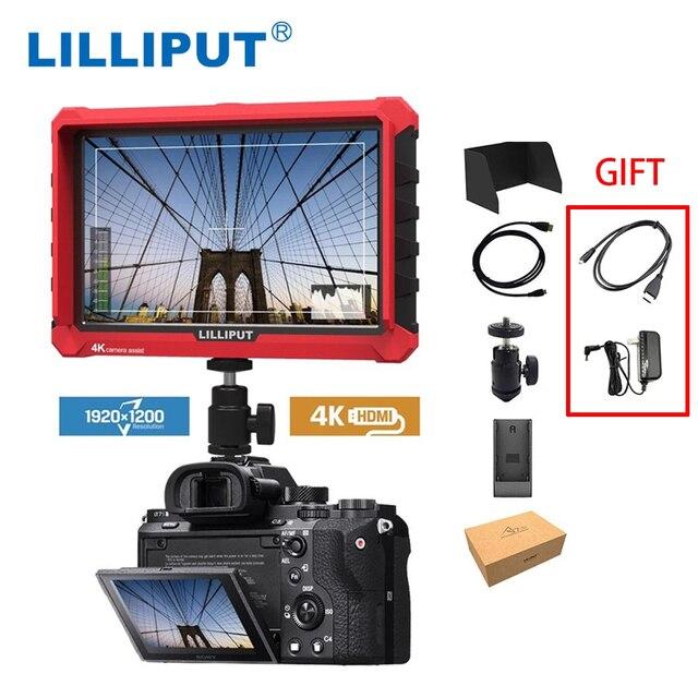 LILLIPUT Monitor de campo de cámara A7S, 7 pulgadas, 1920x1200, HD, IPS, 500cd/m2, 4K, HDMI, asistente de salida de vídeo para DSLR, sin espejo