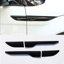 Глянцевая черная Боковая Крышка вентиляционного отверстия, 4 шт., отделка для Land Rover Range Rover Evoque 2012-2017, автомобильные аксессуары