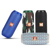 Taşınabilir Bluetooth uyumlu hoparlör kablosuz bas su geçirmez açık hoparlörler AUX TF USB Stereo müzik kutusu