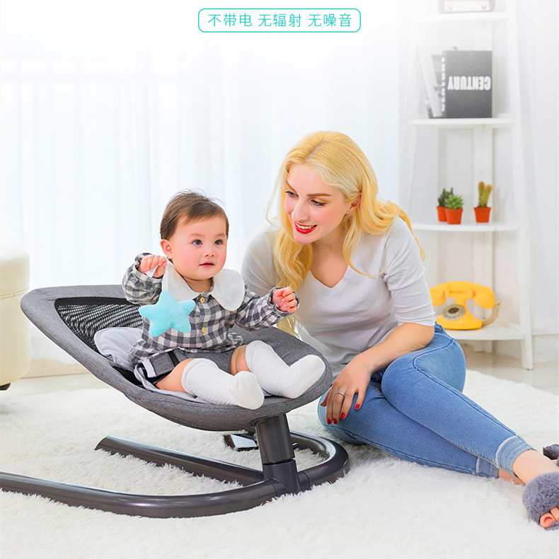 Newborn Baby Rocking Chair Baby Bed Swing Soothing Music Chair Non-electric Manual Swing Shaker Infant Cradle
